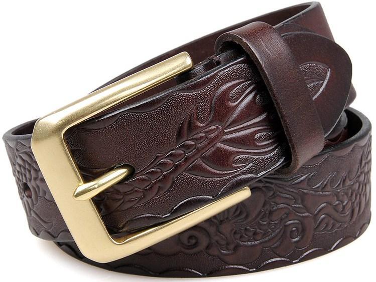 Ремень мужской Vintage 14471 Коричневый