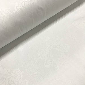 Ткань сатин с рисунком, королевская лилия белого цвета (ТУРЦИЯ шир. 2,4 м) Отрез(0,8*2,4м)