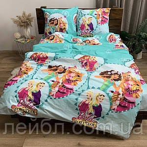 Распродажа полуторное постельное белье Бязь Gold –  Барби