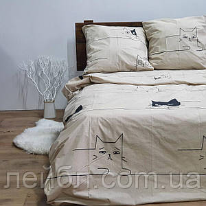 Распродажа полуторное постельное белье Бязь Gold –  Кошка Соня
