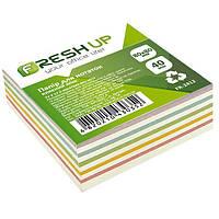 Блок бумаги для заметок Fresh Up FR-2412 клееный 80*80мм Микс 400 листов