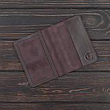 Обкладинка військовий квиток STANDART коричний (шкіра), фото 2