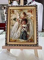 Картина АНГЕЛИ, бурштин, багет, 15х20см ( Картина АНГЕЛЫ, янтарь, багет, 15х20см)