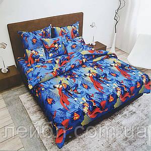 """Распродажа полуторное постельное белье Бязь Gold – """"Супермен"""""""