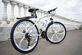 Гірський велосипед BMW-1 на литих дисках 21 швидкість Білий Унісекс. Для дорослих, підлітків