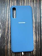"Чехол Samsung A30S №16 ""Голубой"" Silicon Case"