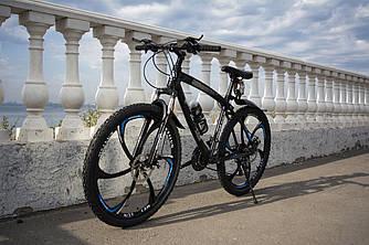 Гірський велосипед BMW-2 PRO на литих дисках 24 скор., алюмінієва рама Чорний Унісекс. Для дорослих, підлітків