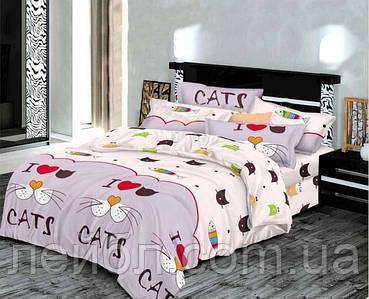 Распродажа полуторное постельное белье Бязь Gold –  CATS