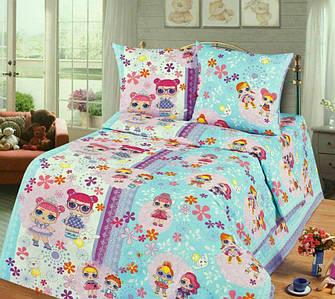 Распродажа полуторное постельное белье для девочки Бязь Gold –   Куколка Lol