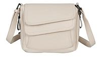 Женская сумка через плечо бежевая