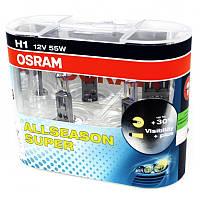 Автолампа H1 галогеновая 55W Osram 64150 All Season 2 шт.