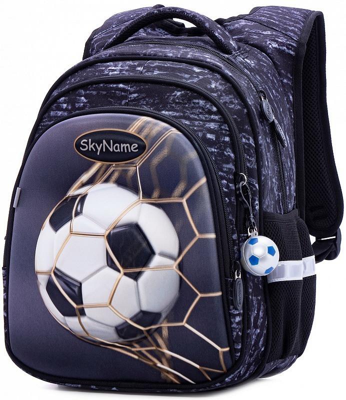 Рюкзак ортопедический школьный  для мальчика 1-4 класс с 3Д рисунком Мяч Футбол SkyName R2-179