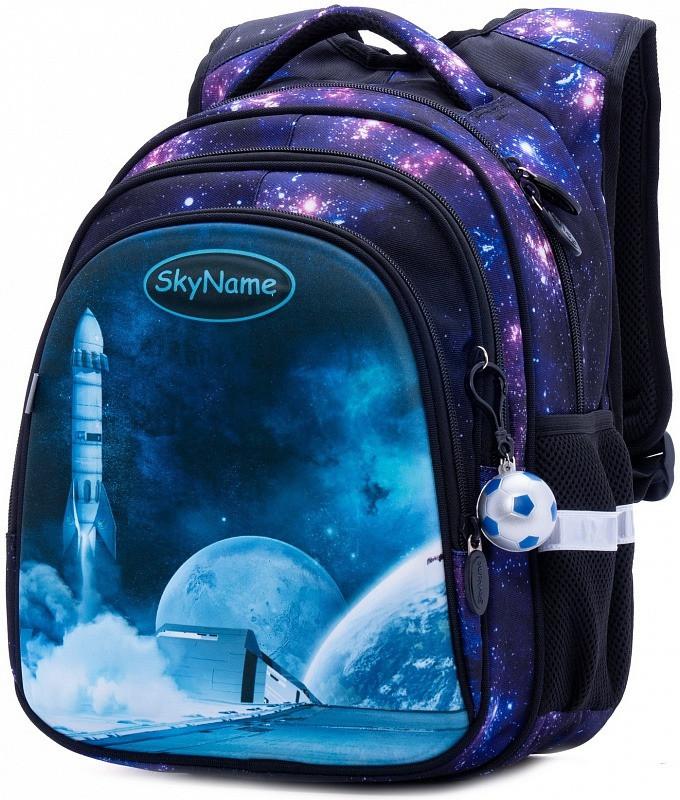 Рюкзак ортопедический школьный для мальчика в 1-4 класс с 3Д рисунком Космос SkyName R2-180