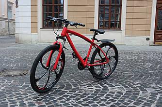 Гірський велосипед BMW-3 на литих дисках 21 швидкість Червоний Унісекс. Для дорослих, підлітків