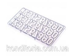 Форма для шоколаду поликорбонат цифри