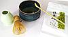 Чай Матчу + вінчик, чаша і мірна ложка. Преміум комплект для приготування японського чаю Маття