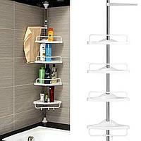 Угловая полка для ванной комнаты Multi Corner Shelf GY-188 Белая