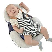 Подушка для новорожденных Baby Sleep Positioner Синяя