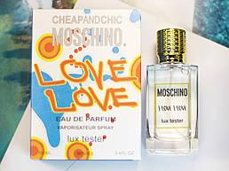 Moschino I Love Love Туалетная вода Тестер Lux 100ml
