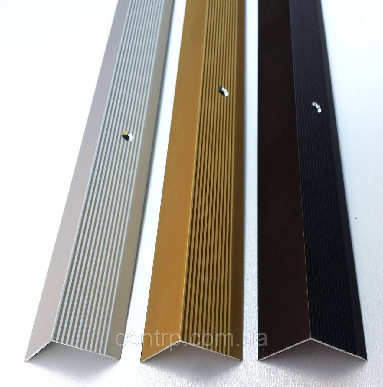 Порожек алюминиевый угловой 30мм* 30мм А 30*30 анод