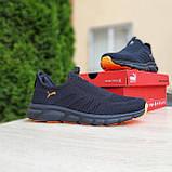 Мужские легкие кроссовки Puma чёрные с оранжевым, 41, фото 6
