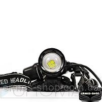 Ліхтар налобний Bailong 2x18650 micro USB BL-8053-P50, фото 3