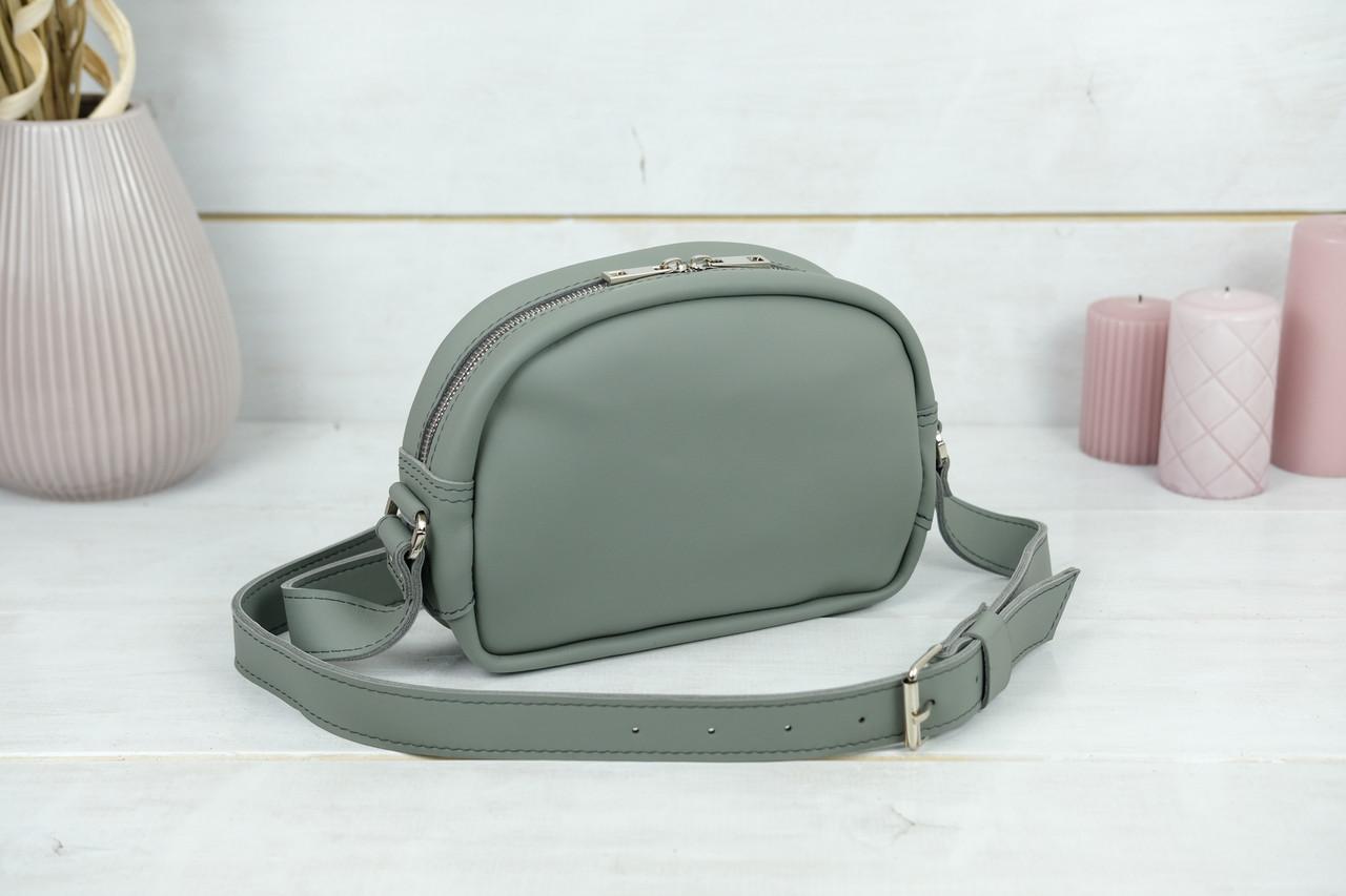 Сумка жіноча. Шкіряна сумочка Віола, Шкіра Grand, колір Сірий