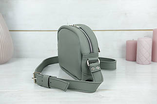 Сумка жіноча. Шкіряна сумочка Віола, Шкіра Grand, колір Сірий, фото 3