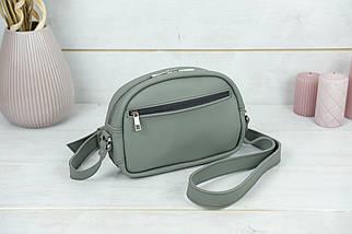 Сумка жіноча. Шкіряна сумочка Віола, Шкіра Grand, колір Сірий, фото 2