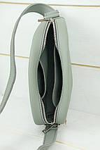 Сумка женская. Кожаная сумочка Виола, Кожа Grand, цвет Серый, фото 3