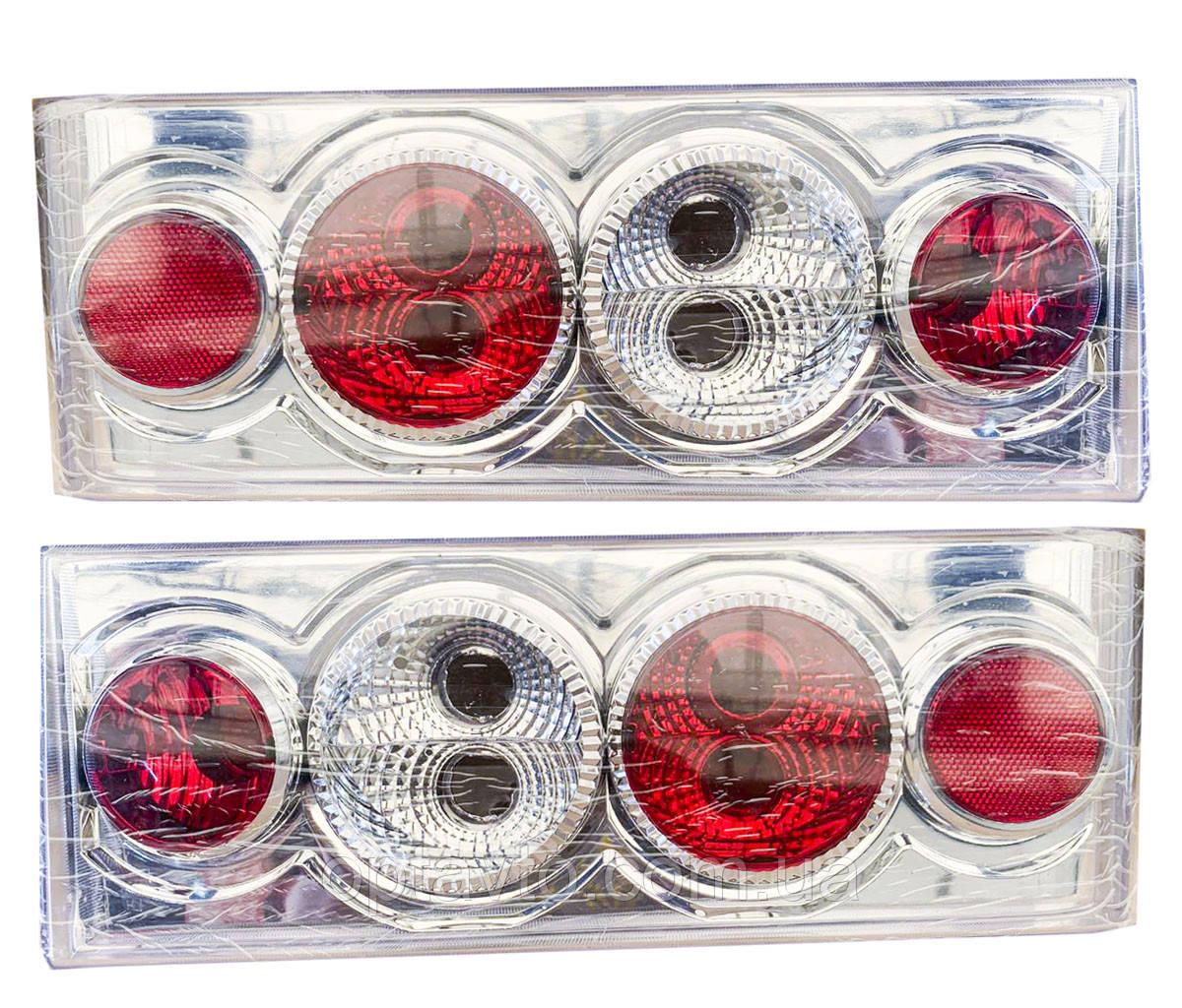 Задние фонари на ВАЗ 2108 - 2109 - 21099 Четыре круга Хромированные светлые! стопы на ваз Цена за комплект!