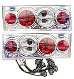 Задние фонари на ВАЗ 2108 - 2109 - 21099 Четыре круга Хромированные светлые! стопы на ваз Цена за комплект!, фото 2