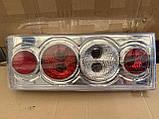 Задние фонари на ВАЗ 2108 - 2109 - 21099 Четыре круга Хромированные светлые! стопы на ваз Цена за комплект!, фото 4
