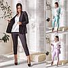 Р 48-62 Женский костюм тройка-пиджак, блузка и брюки Батал 23765