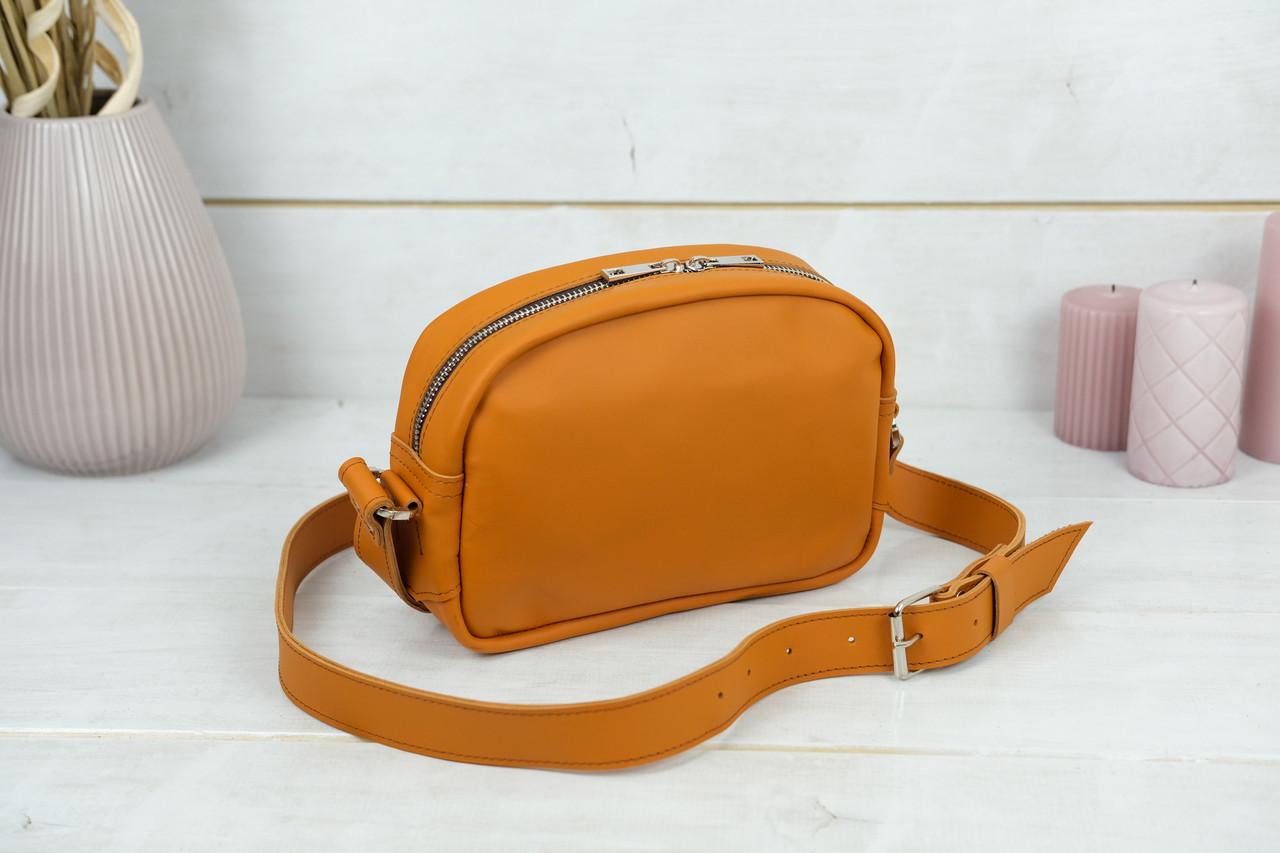 Сумка жіноча. Шкіряна сумочка Віола, Шкіра Grand, колір Бурштин