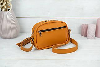 Сумка жіноча. Шкіряна сумочка Віола, Шкіра Grand, колір Бурштин, фото 2