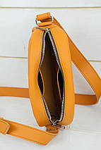 Сумка жіноча. Шкіряна сумочка Віола, Шкіра Grand, колір Бурштин, фото 3