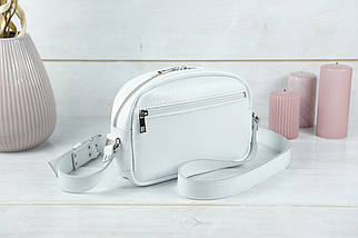 Женская кожаная сумка Виола, натуральная Гладкая кожа, цвет Белый, фото 3