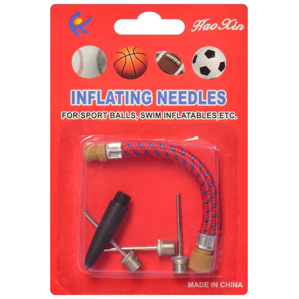 Игла для надувания накачивания мячей набор: игла, гибкий шланг, насадка арт.MS 2023