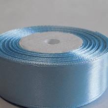 Лента атласная. Цвет светло голубой. Ширина 2.5 см