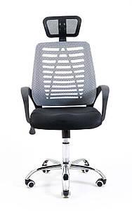 Компьютерное кресло Richman Бласт сетчатое серое с подголовником