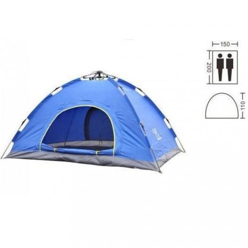 Палатка автоматическая 2-х местная СИНЯЯ Палатка на пикник для двоих