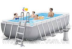 Каркасный бассейн Prism frame pool, лестница, фильтр-насос 2006 л/ч, Intex 26790, 400*200*122 см