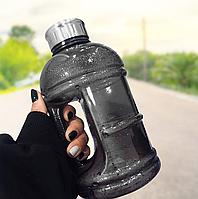 Пластиковая спортивная бутылка для воды, Фитнес бутылка с ручкой 1л (1000 мл)