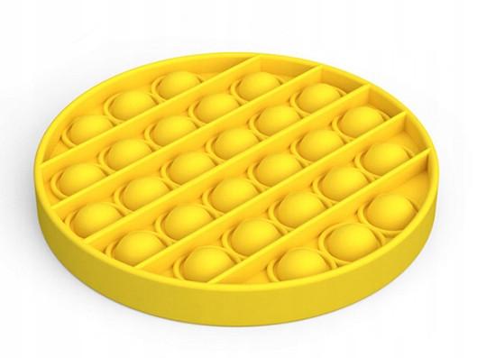 Антистресс сенсорная игрушка Pop It Круг Желтый