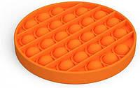 Антистресс сенсорная игрушка Pop It Круг Оранжевый, фото 1