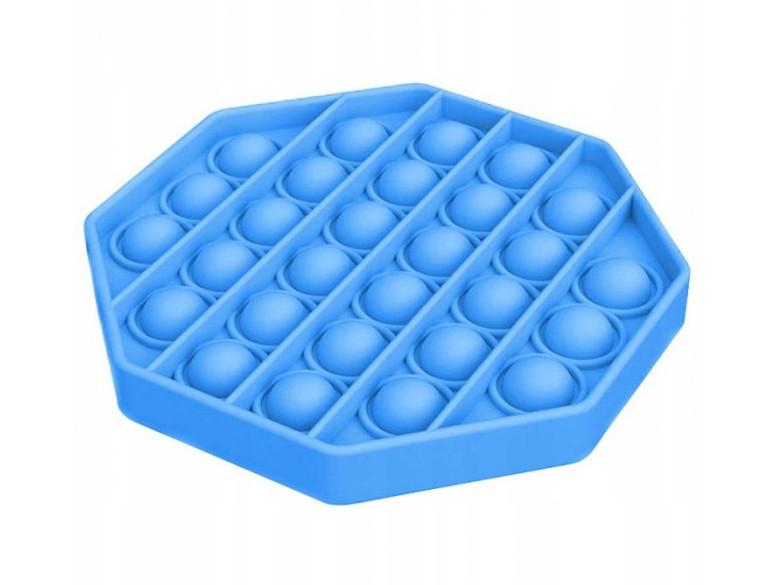 Антистресс сенсорная игрушка Pop It Шестиугольник Голубой