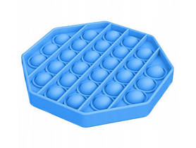 Антистрес сенсорна іграшка Pop It Шестикутник Блакитний