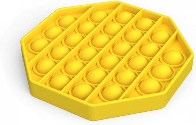 Антистресс сенсорная игрушка Pop It Шестиугольник Желтый