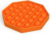Антистрес сенсорна іграшка Pop It Шестикутник Помаранчевий, фото 1